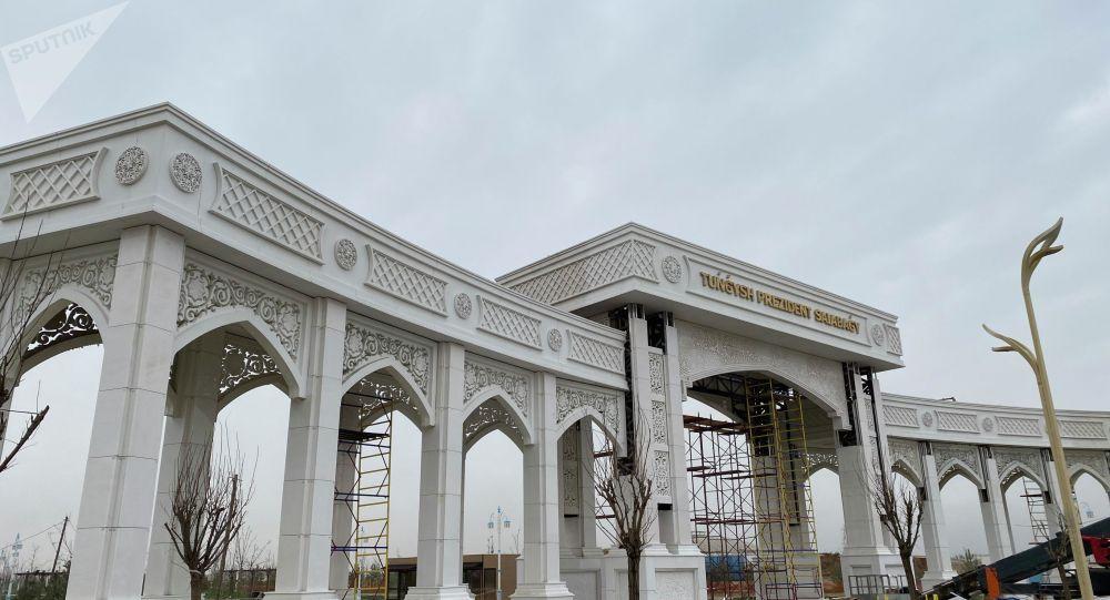 Түркістан қаласының мәдени-рухани орталығында Тұңғыш президент саябағының құрылысы қарқынды жүріп жатыр