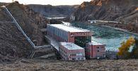 Гидроэлектростанция в районе Капчагайского водохранилища