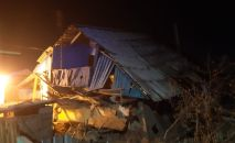 Жилой дом после взрыва