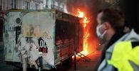 Акции протеста во Франции против скандального закона, запрещающего публикацию изображений полицейских при исполнении