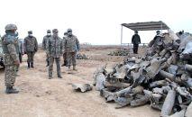 Министр обороны Нурлан Ермекбаев проверил ход работ по ликвидации последствий взрывов в Арыси