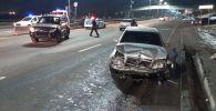 Два автомобиля перевернулись после столкновения на Восточной объездной дороге