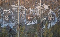 Инсталляция батыров украсила Поляну Абылай хана в Бурабае