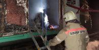 Пожар в вагоне