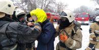 Из пожара спасли мужчину с травмой ноги