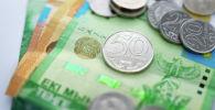 Деньги, тенге, купюры, монеты