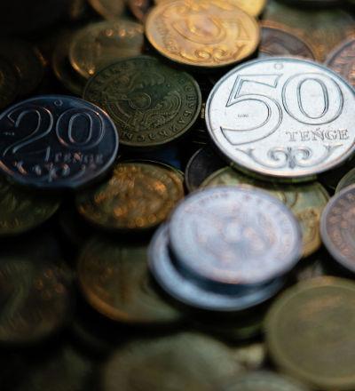 Деньги, тенге, монеты