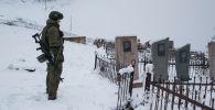 Российский военнослужащий в Карабахе