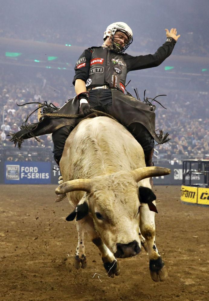 Нью-Йорктегі Professional Bull Riders Monster Energy Buck Off  жарысының қатысушысы.