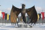 В стиле Игры престолов: замок и гигантский дракон появились в Нур-Султане