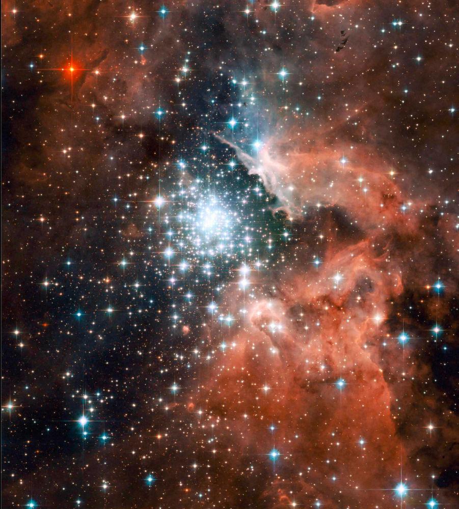 Біздің галактикамыздың Киля спиралінің жиегіндегі NGC 3603 алып тұмандығы – бұл жаңа жұлдыздар пайда болатын ғарыш фабрикасының бір түрі.