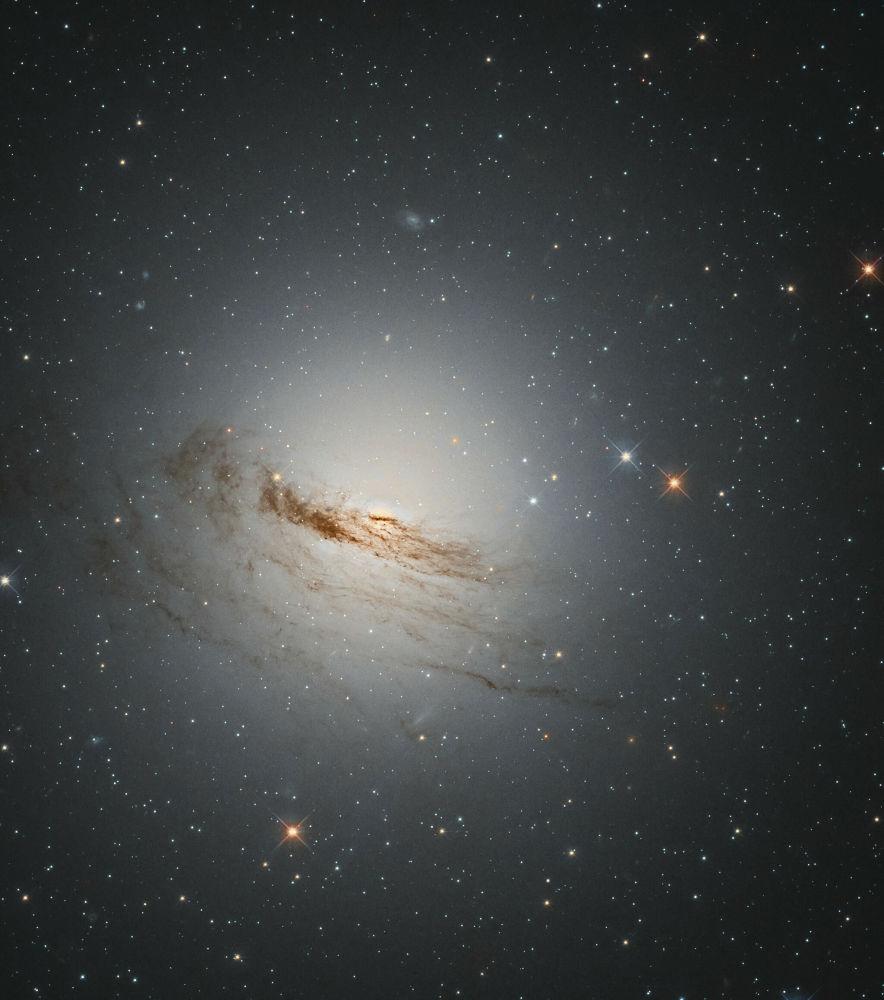 Алтын балық шоқжұлдызындағы NGC 1947 линзалық галактиканың бейнесі