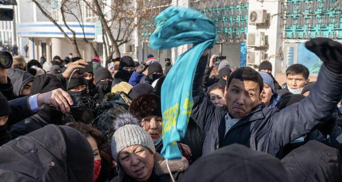 Митинг в Алматы