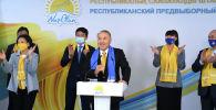 Нурсултан Назарбаев посетил Республиканский предвыборный штаб партии Nur Otan