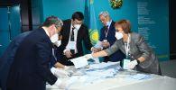 Подсчет голосов на выборах кандидатов от Ассамблеи народа Казахстана