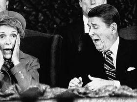 АҚШ президенті Рональд Рейган мен бірінші ханым Нэнси Рейган