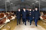Аскар Мамин посетил новую цифровую молочно-товарную ферму ТОО Қызылжар Сүт