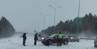 Массовая авария на выезде из Петропавловска