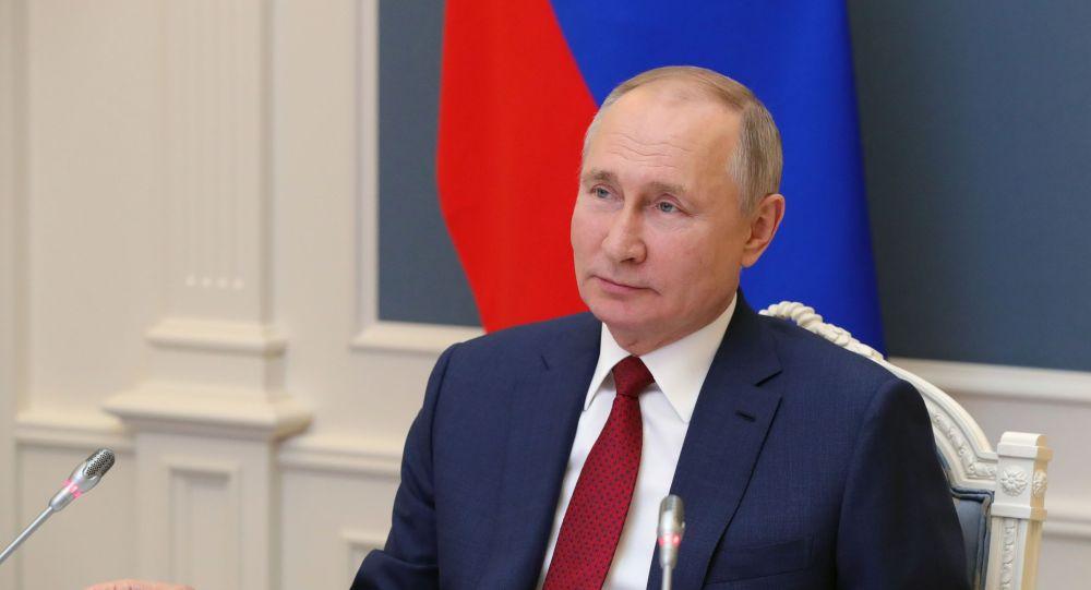 Президент РФ В. Путин выступил на сессии онлайн-форума Давосская повестка дня 2021