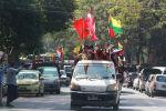 Протесты в в Янгоне, Мьянма