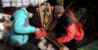 Все свободное время сестры Каримовы проводят за изготовлением будок для собак и следят в своем поселке за живодерами
