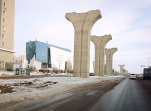 Астана LRT тіректері