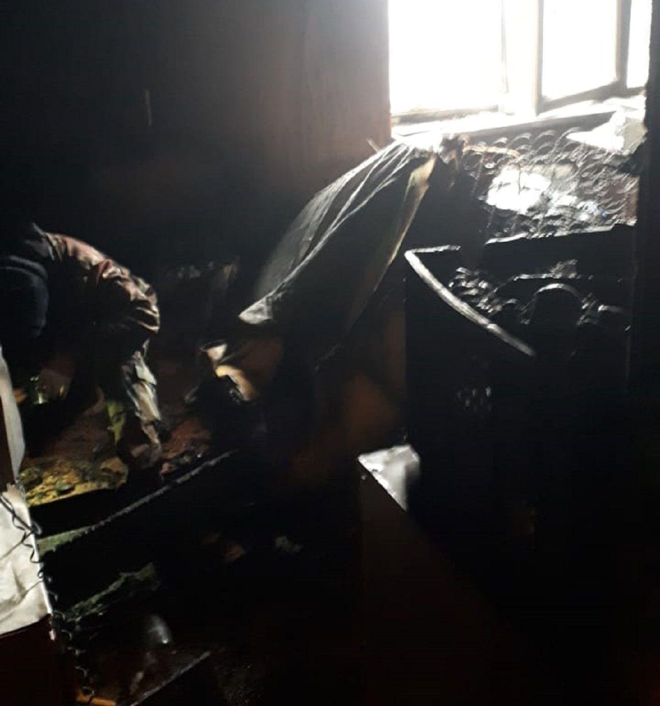Пожар в алматинской квартире