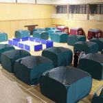 Сома қаласындағы спорт кешенінде жер сілкінісінен зардап шеккендерге арнайы палаткалар орнатылды.