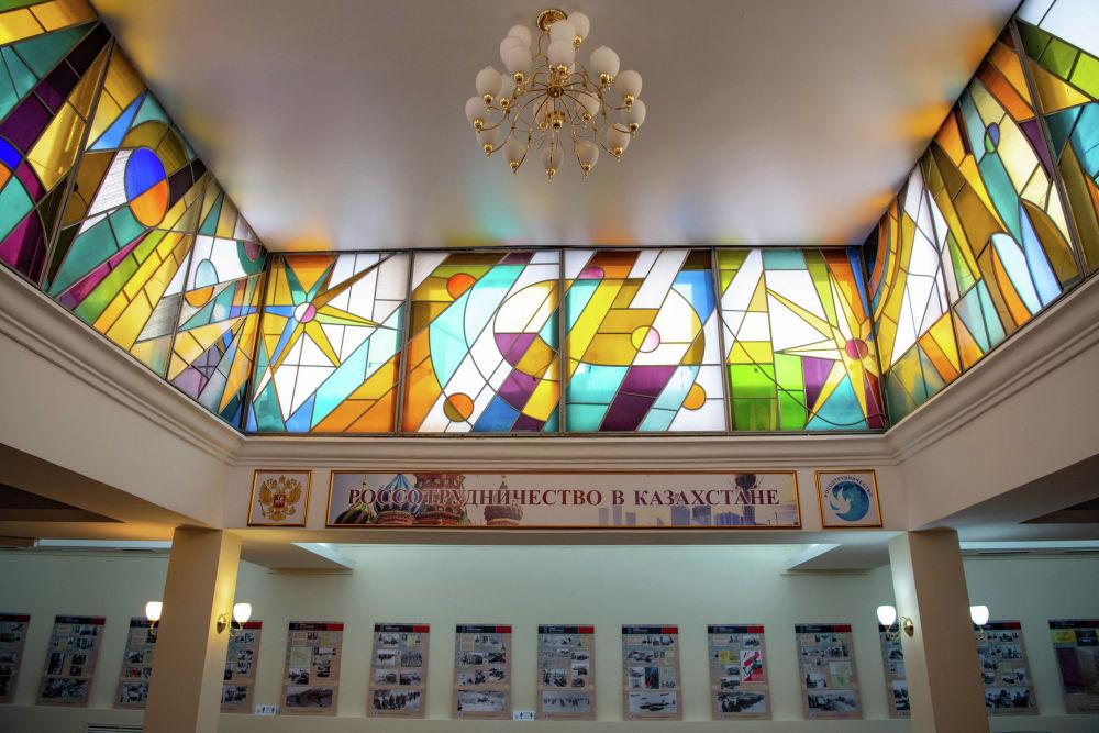 Нұр-Сұлтандағы Ресейдің ғылым мен мәдениет орталығы ғимаратының витражы