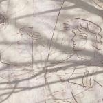 Бараев көшесіндегі тұрғын үйдің бүйір жақ қабырғасындағы сграффито.