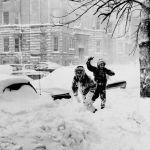 1967 жылдың қаңтарында Чикагода жауған қалың қар.