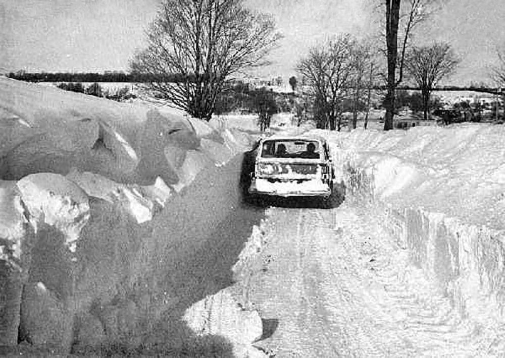 Нью-Йоркте (Буффало) соққан бораннан кейінгі сәт, 1977 жыл.