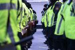 Патрульные полицейские на построении