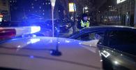 Патрульный полицейский во время дежурства