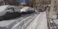 Снегопад в Петропавловске