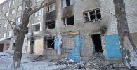 Врыв газа в жилом доме в Петропавловске