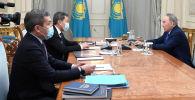Нурсултан Назарбаев принял президента АО Казахфильм имени Ш.Айманова Акана Сатаева