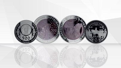 Белка. Стрелка және Сүндет той коллекциялық монеталары
