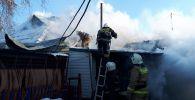 Пожар в Аксу