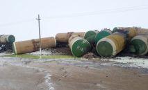 В Актюбинской области произошел сход 22 грузовых цистерн