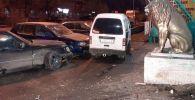 Цепная авария на ул. Розыбакиева