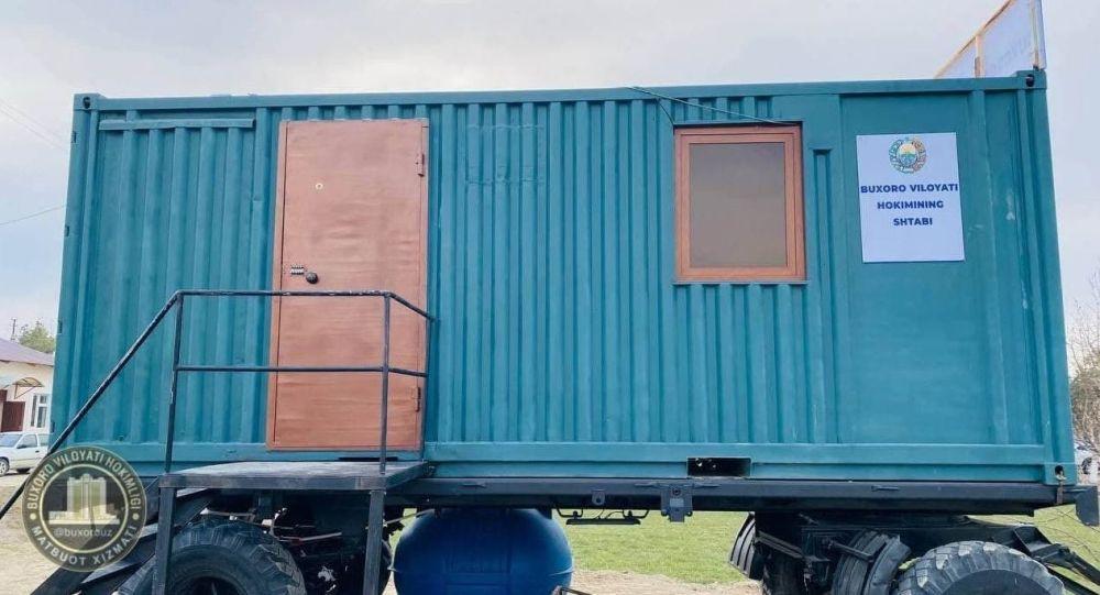 Хокимы в Узбекистане переезжают работать в контейнеры