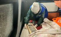 Эвакуация пострадавших шахтеров в Акмолинской области