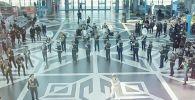 Военнослужащие образцово-показательного оркестра Национальной гвардии Казахстана устроили флешмоб