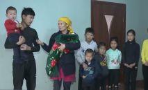 Жительница Шымкента в 40 лет родила десятого ребенка