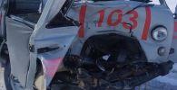 Скорая попала в аварию в Актюбинской области