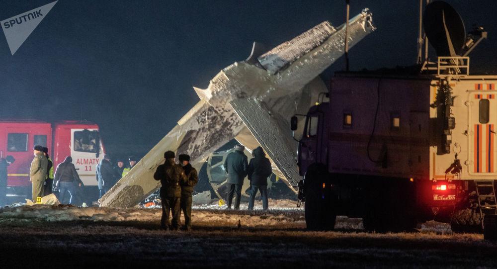 На месте крушения самолета Ан-26