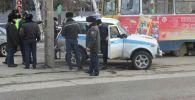 Трамвай и полицейская Нива столкнулись в Усть-Каменогорске