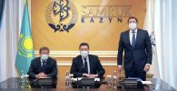Премьер-министр Асқар Мамин Самұрық-Қазына Ұлттық әл-ауқат қоры АҚ ұжымына басқарманың жаңа төрағасы Алмасадам Сәтқалиевті таныстырды