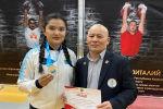 Столичная спортсменка установила рекорд Казахстана по поднятию гири